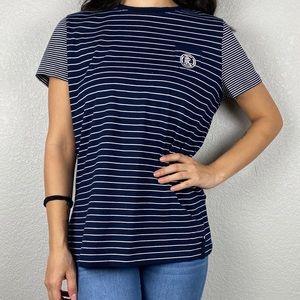 🌻 Blue and white stripped Ralph Lauren T-shirt